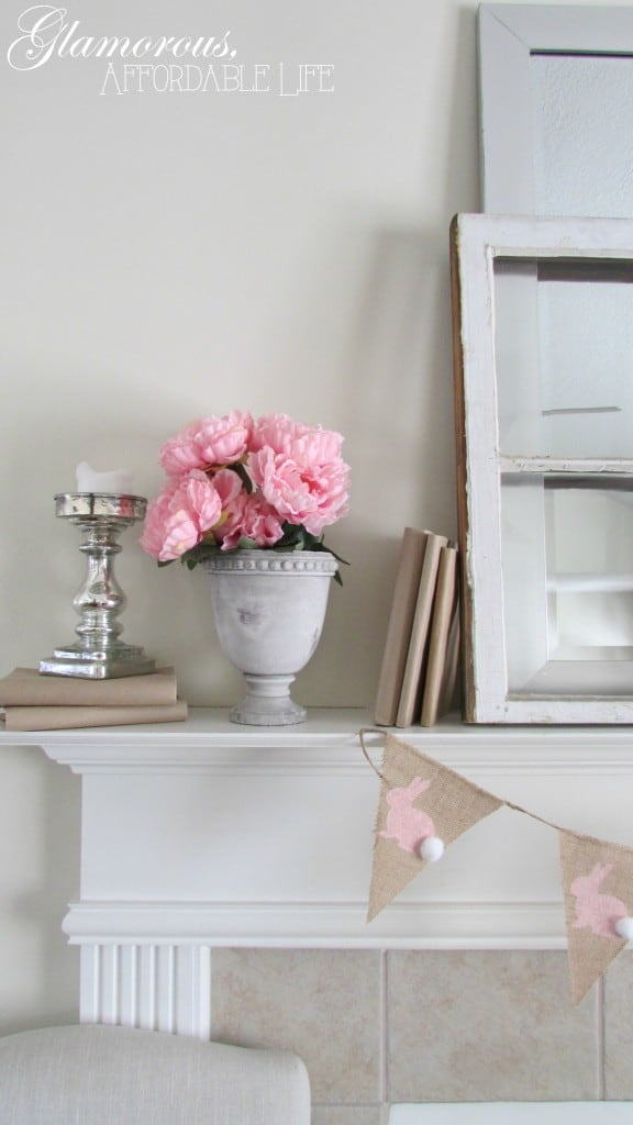 Charming Easter Mantel from Glamorous Affordable Life