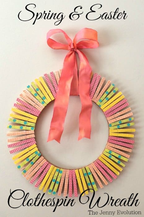Clothespin Wreath from The Jenny Evolution
