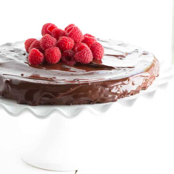 Flourless-Chocolate-Cake-with-Chocolate-Ganache from Spoonful of Flavor