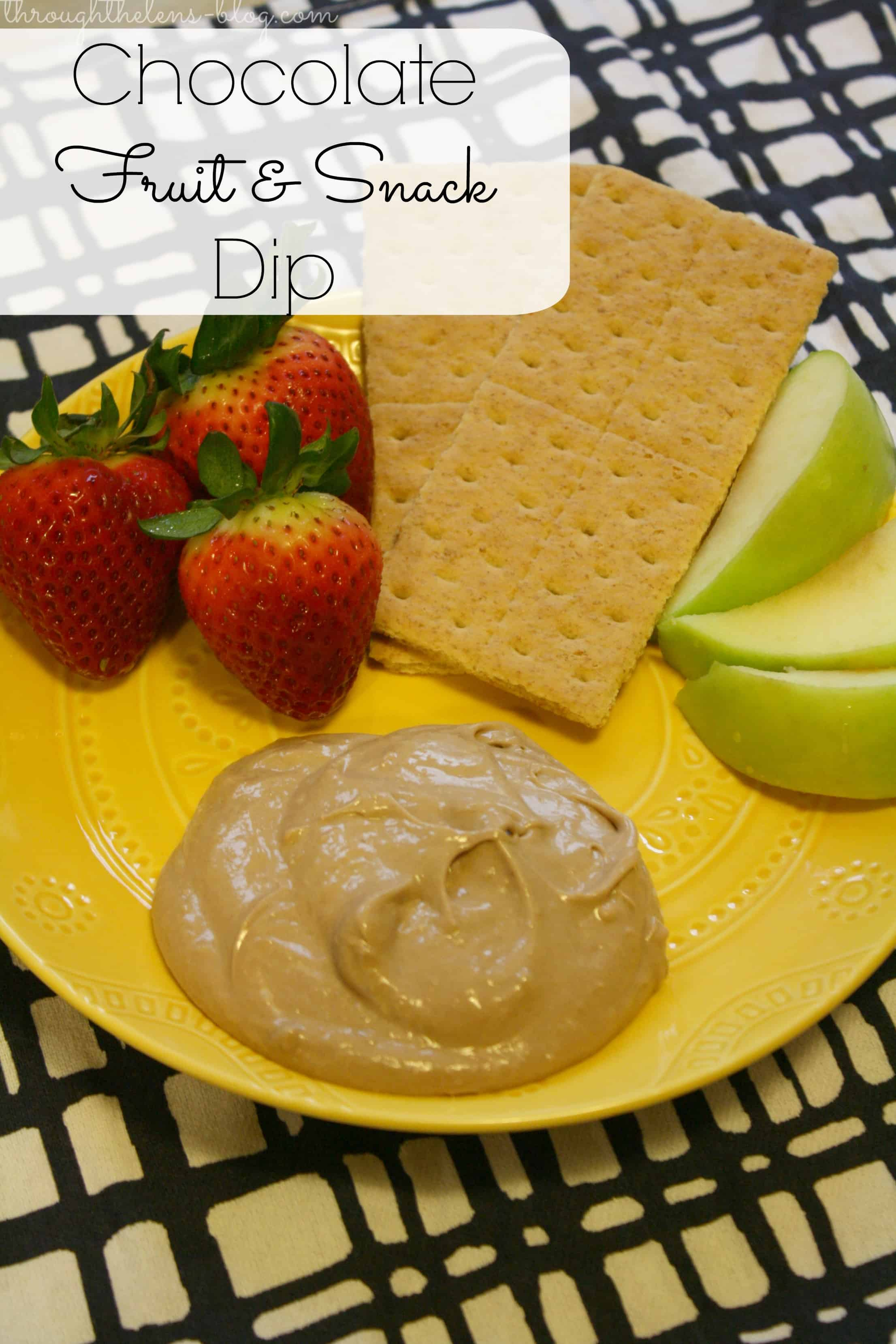 Chocolate Fruit and Snack Dip