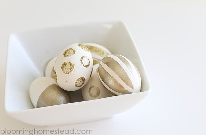 Gold-Painted-Eggs from Blooming Homestead