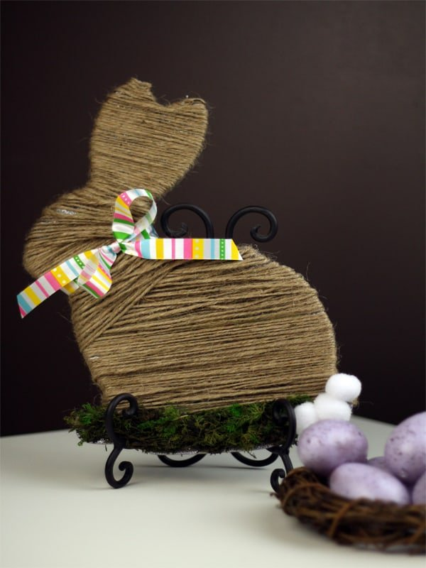 Moss-and-Twine-Wrapped-Easter-Bunny from The Southern Couture