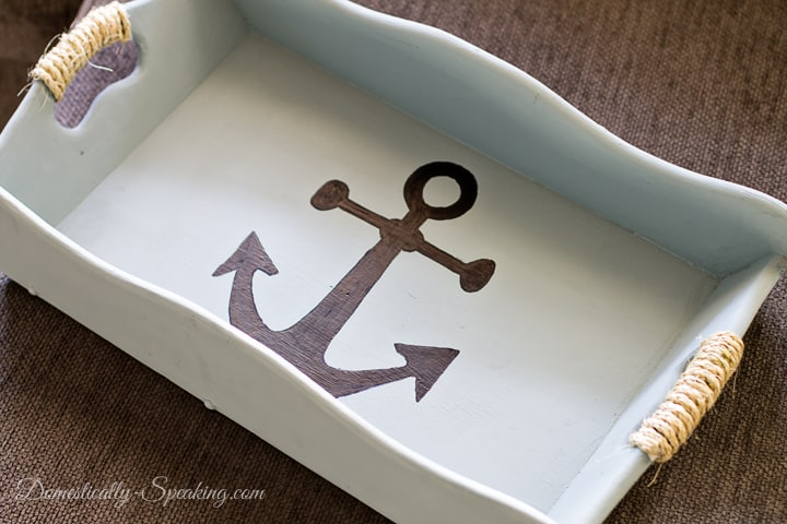 Nautical Tray a Thrift Store Makeover 2