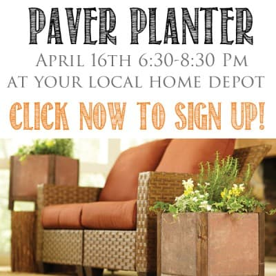 The Home Depot DIH Workshop Paver Planter