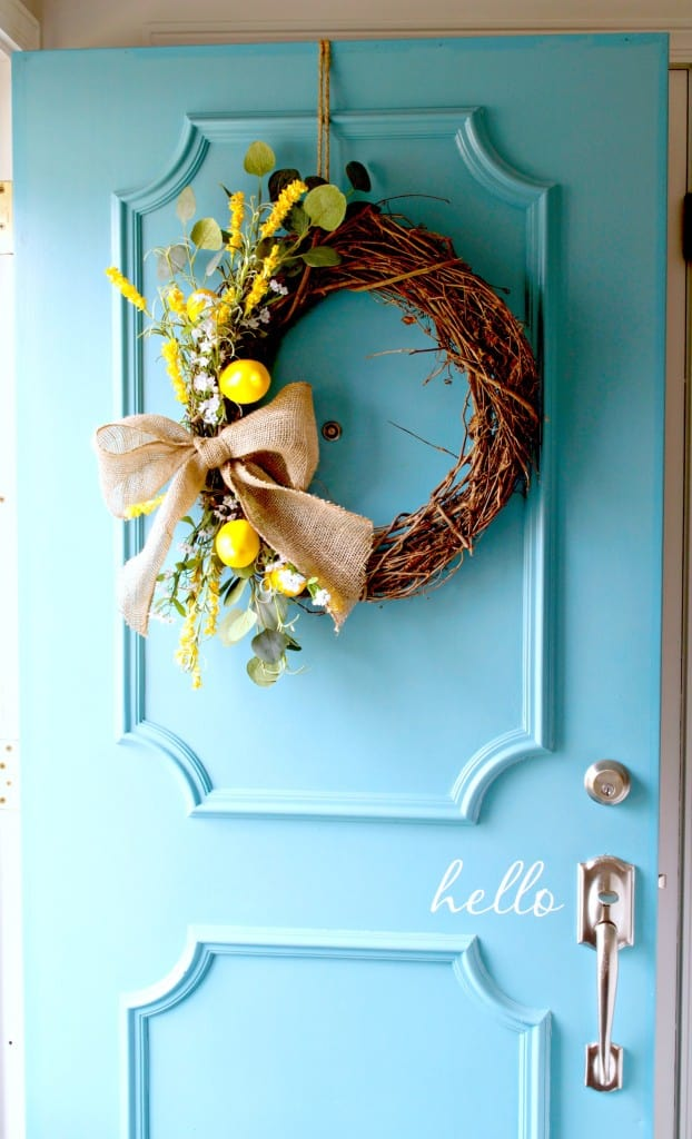 Spring Wreath with Lemons from Chatfield Court