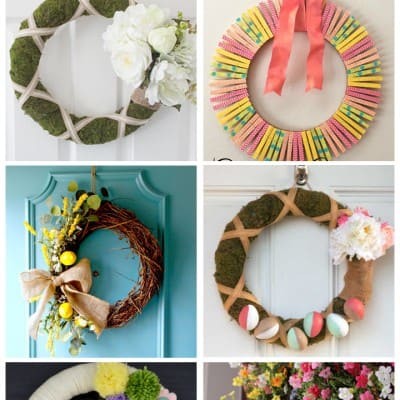 6 Gorgeous Spring Wreaths… Friday Features