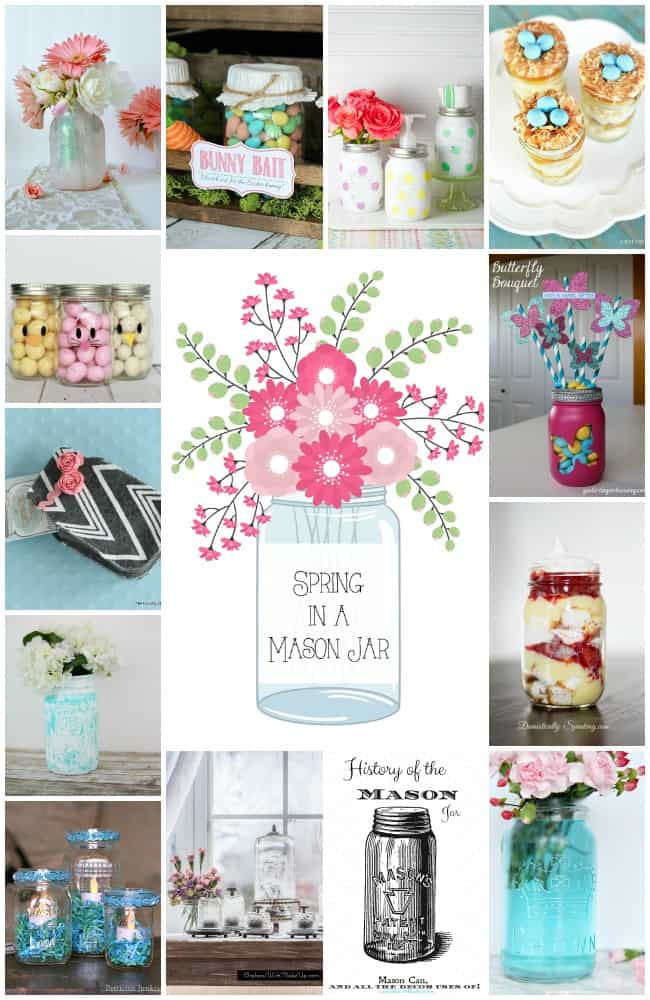 Spring in a Mason Jar Collage