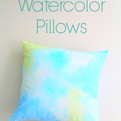 DIY Watercolor Pillows