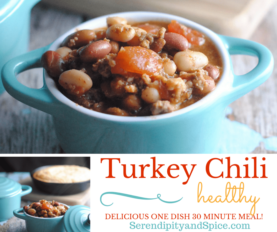 3 Bean Turkey Chili from Serendipity and Spice