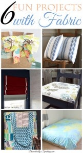 6 Fun Projects with Fabric great DIY crafts