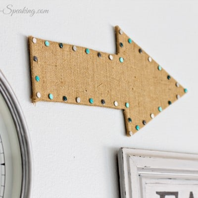 DIY Burlap Arrow for our Gallery Wall