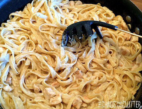 Cajun-Chicken-Alfredo-One-Pot-Dish from The Chaos and the Clutter