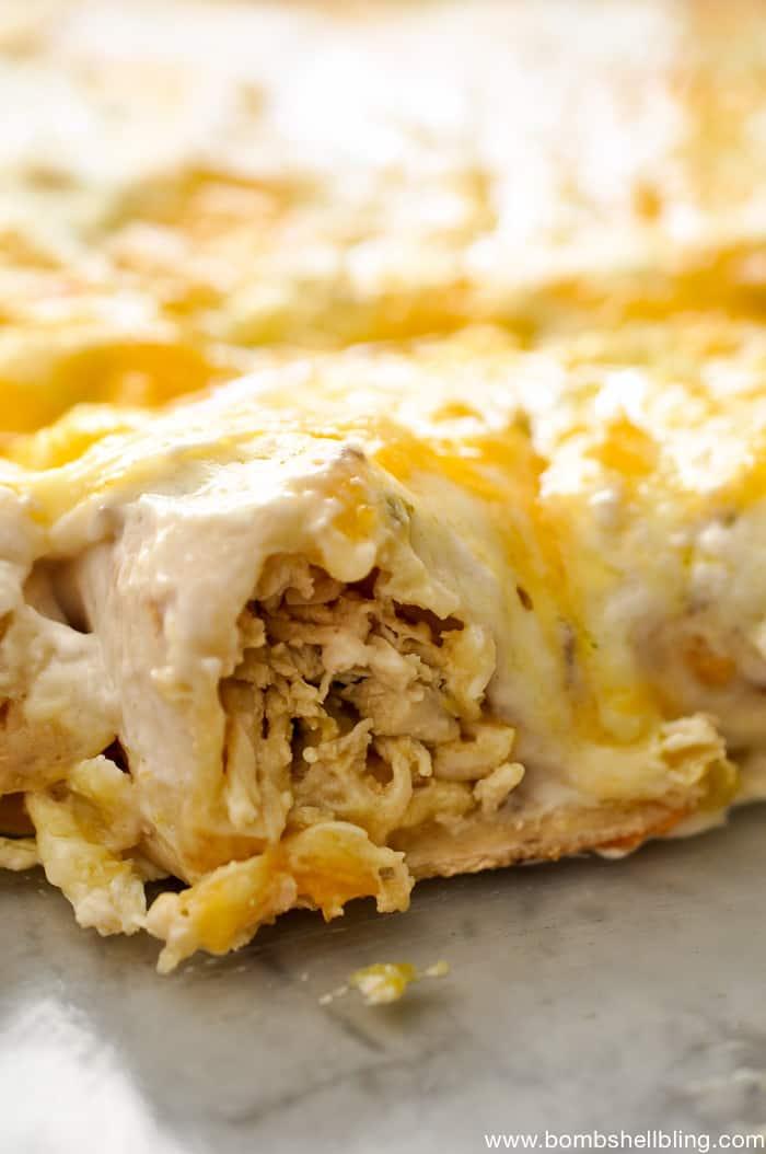 Creamy-Mushroom-Pepperjack-Chicken-Enchiladas from Bombshell Bling