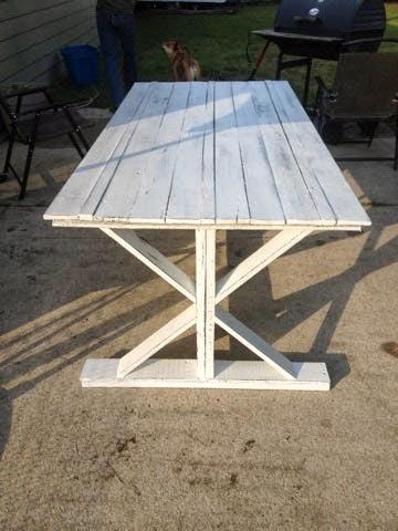 DIY Farmhouse Table from Alli Renee Blog