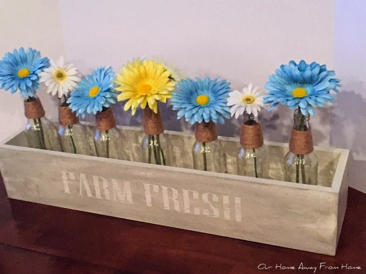 DIY Glass Bottle Crate from Maria Elenas Decor