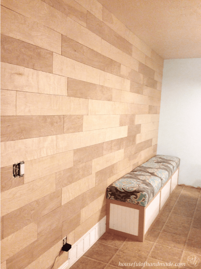 DIY Plank Wall from Houseful of Handmade
