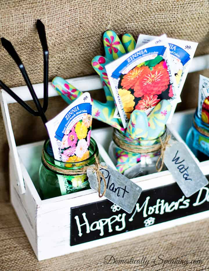 Mother S Day Gardening Gift With Mason Jars