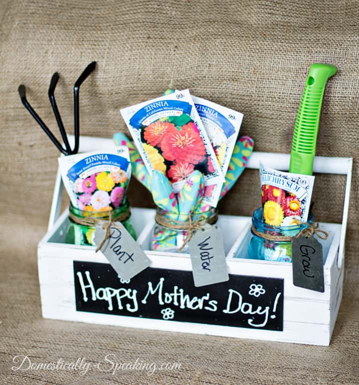 Mother's Day Gardening Gift with Mason Jars