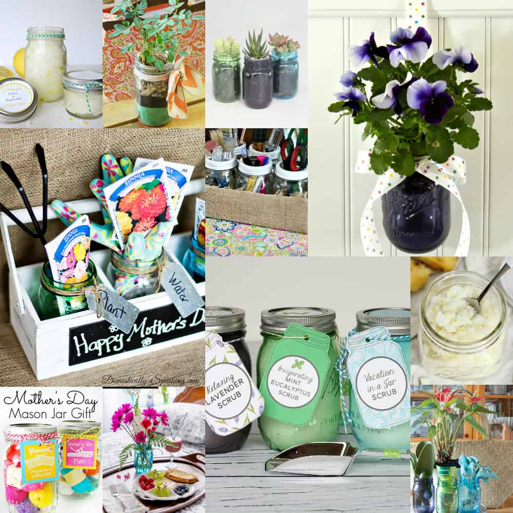 Mason Jar Mother's Day Gift Ideas... great DIY Gifts Mom will LOVE!