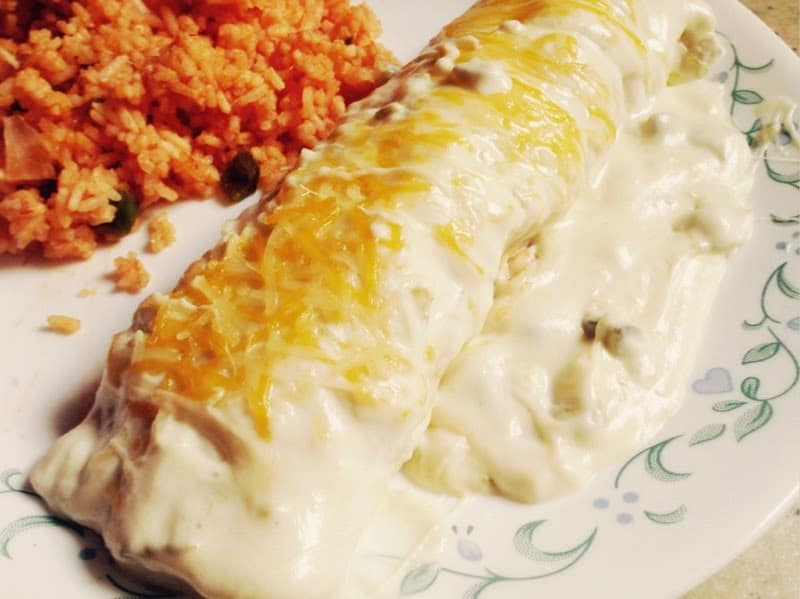 Sour Cream Chicken Enchiladas from Lou Lou Girls