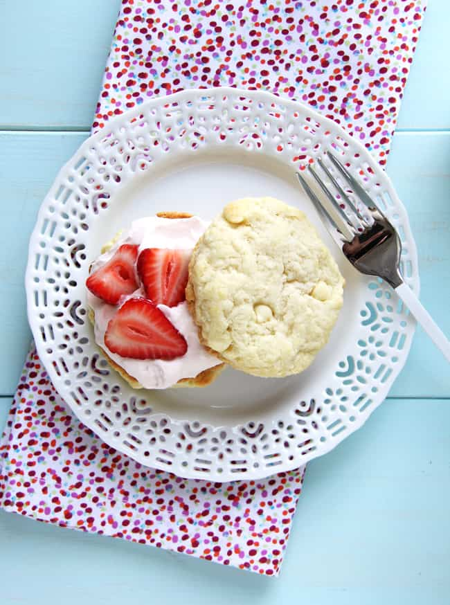 Strawberry-Shortcakes-with-Strawberry-Fluff-Filling from A Pretty Life in the Suburbs