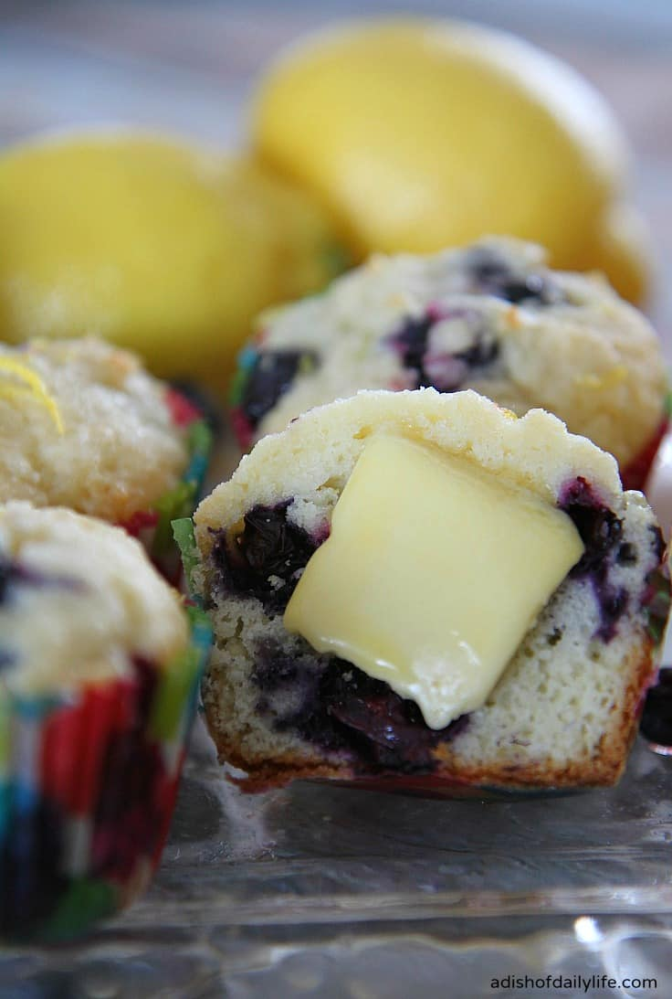 This-delicious-Lemon-Blueberry-muffin-with-lemon-glaze-is-sure-to-become-a-new-family-favorite from A Dish of Daily LIfe
