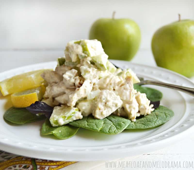 lemon chicken apple salad from Meatloaf and Melodrama