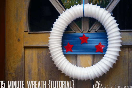 15 Minute Patriotic Wreath from Illi Style
