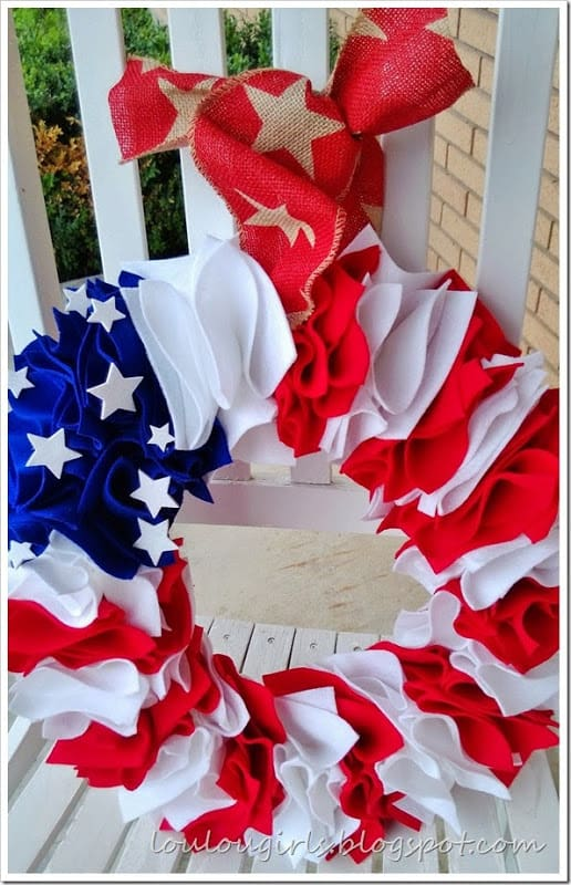 4th of July Wreath from Lou Lou Girls