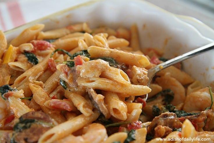 Creamy-Cajun-Jambalaya-Pasta...a-delicious-one-pot-meal fro A Dish of Daily Life