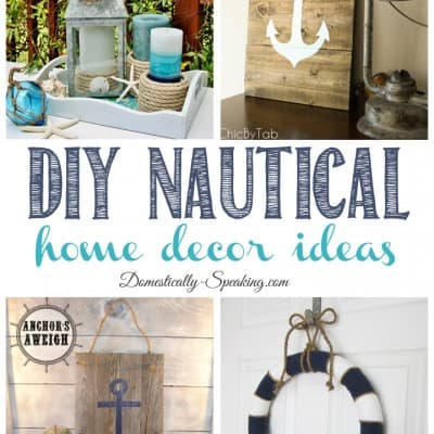 Diy Nautical Home Decor Friday Features Beach Archives Domestically Speaking