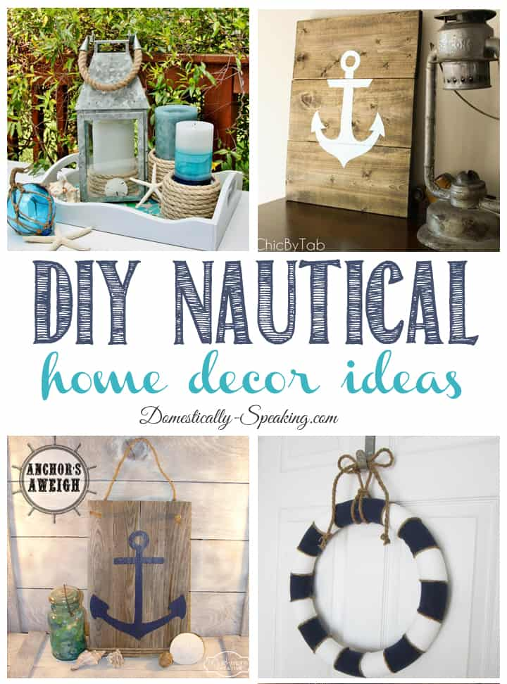Diy nautical home decor friday features domestically for Beach theme home decorations