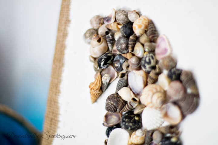 DIY Seashell Seahorse Art 2