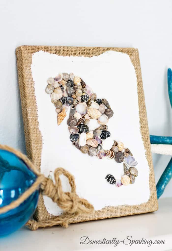 DIY Seashell Seahorse Art 3
