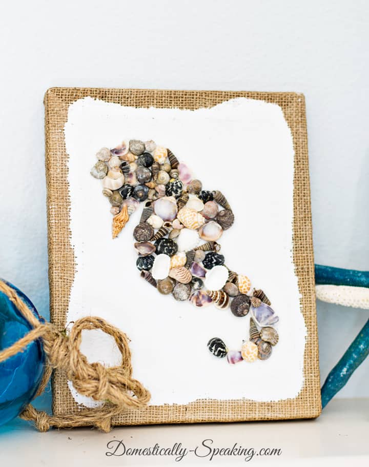 DIY Seashell Seahorse Art 4