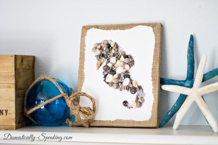 DIY Seashell Seahorse Art 7