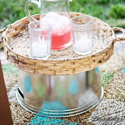 Easiest Outdoor Entertainment Table DIY