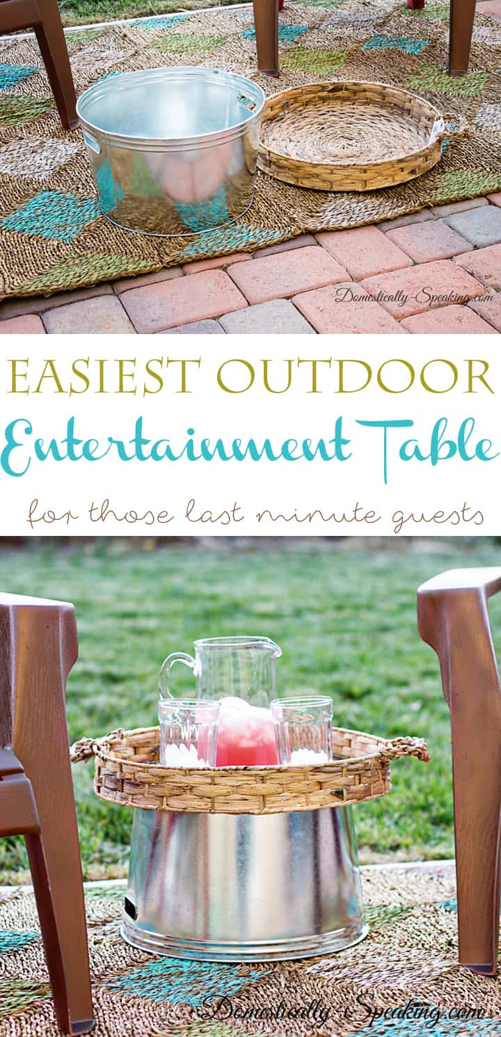 Easiest Outdoor Entertaining Table