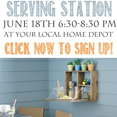 The Home Depot DIH Workshop Serving Station