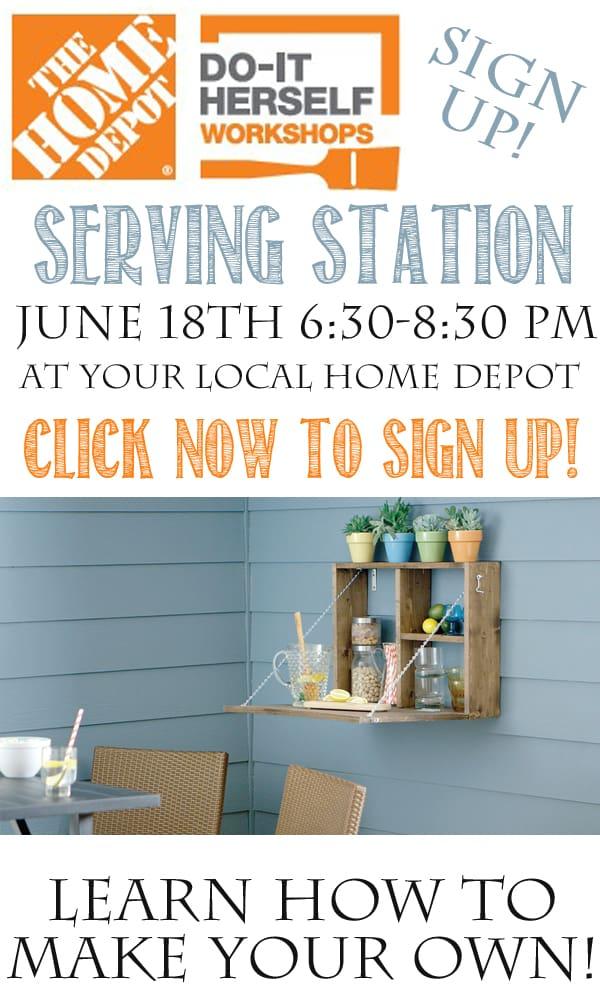 Home Depot DIH Workshop Serving Station