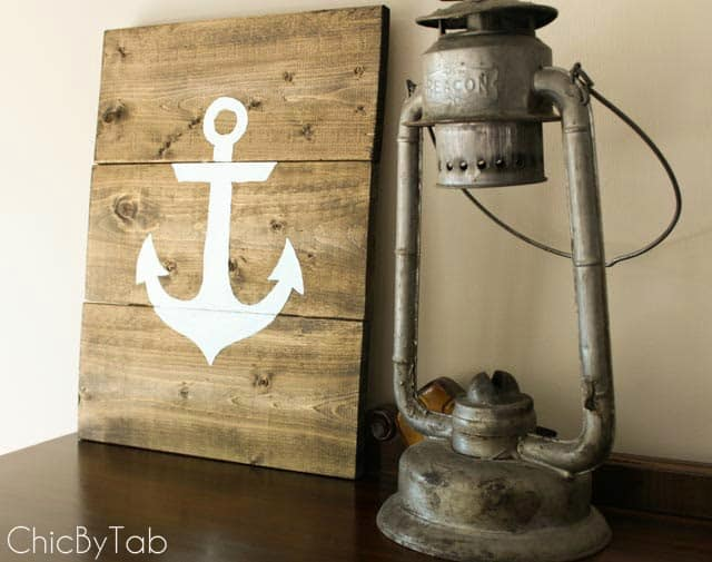 Rustic Anchor Sign from Chic by Tab