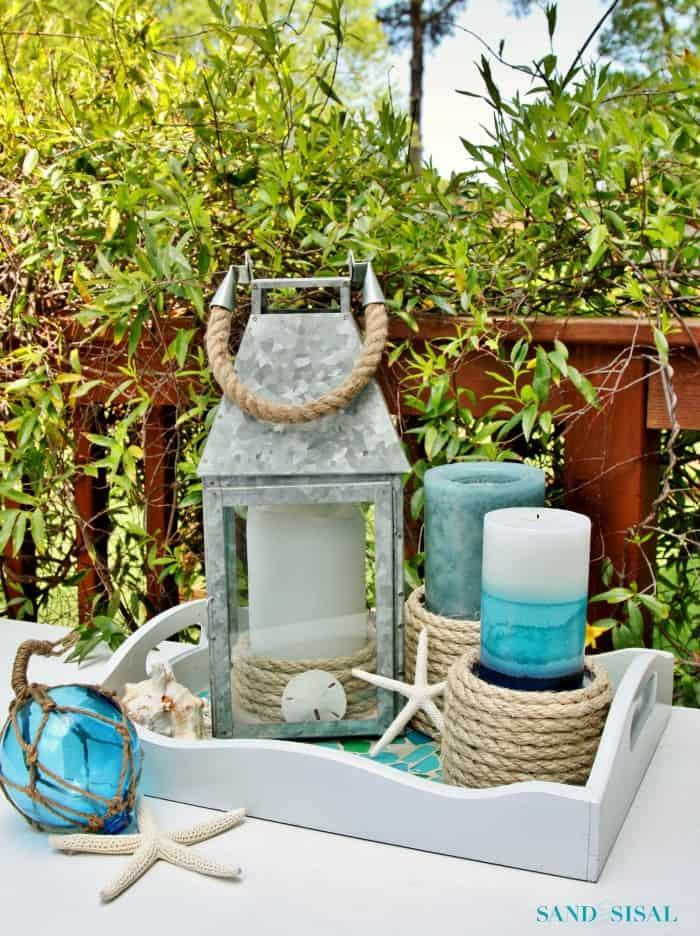 Sisal-Rope-Candle-Holders-an-easy-coastal-craft fron Sand & Sisal