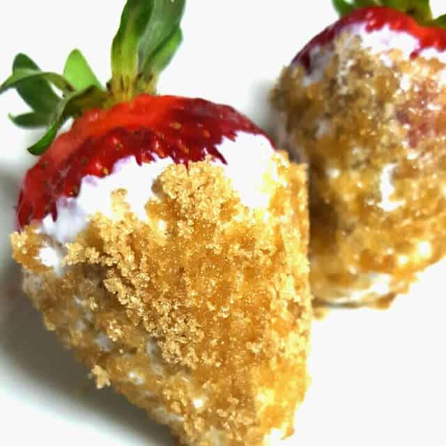 Sour Cream Brown Sugar Strawberries form Lou Lou Girls