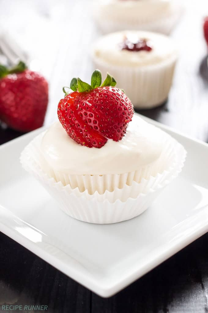 StrawberryFilledAngelFoodCupcakes fom Spoonful of Flavor