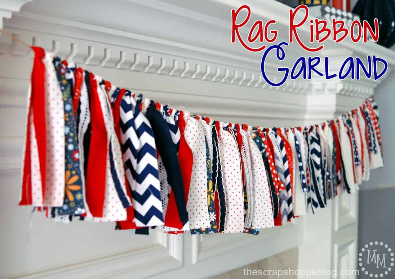 rag-ribbon garland from The Scrap Shoppe