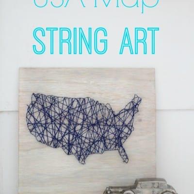 USA Map String Art