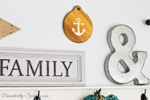 Anchor Decor from a Thrift Store Cutting Board 3