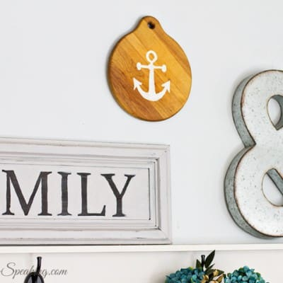 Thrift Store DIY Anchor Home Decor