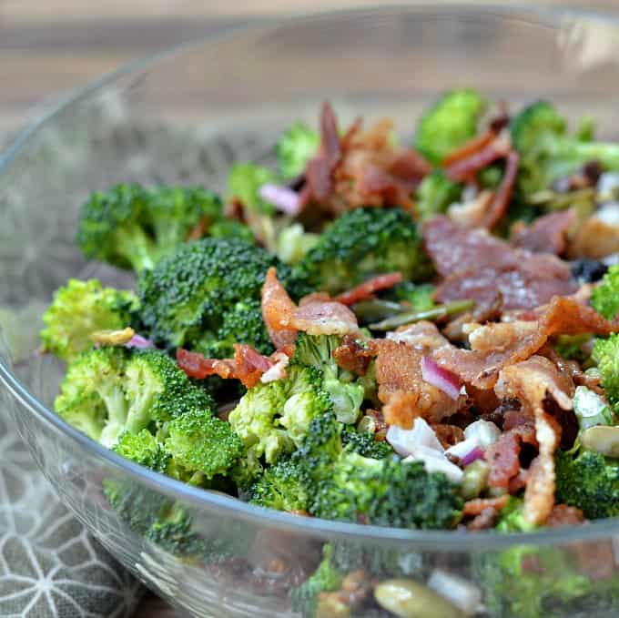 Broccoli-Salad-Recipe-with-Bacon from Growing Up Gabel