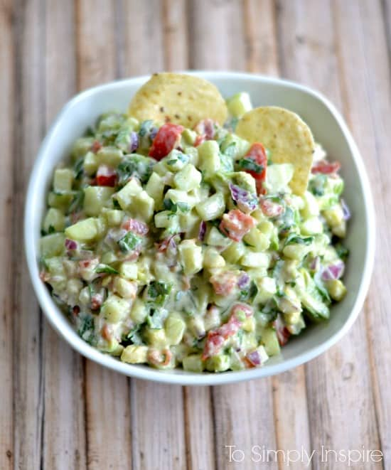 Cucumber-Avocado-Salsa from To Simply Inspire